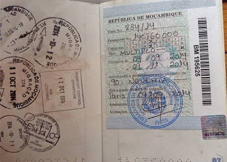 formalites visa mozambique
