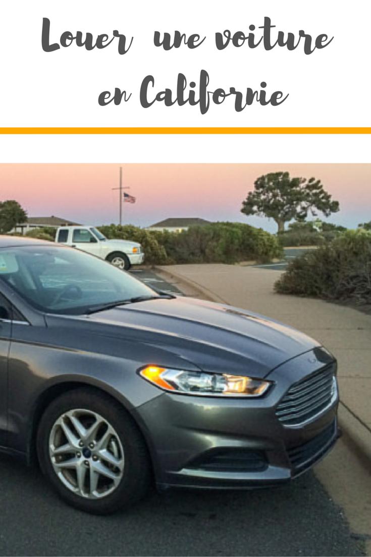 louer un véhicule en californie